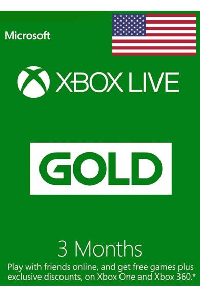 Xbox Live Gold 3 Months (USA)