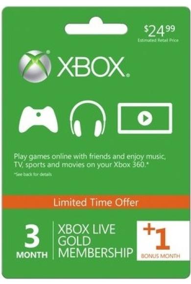 Xbox Live Gold 4 Měsíců