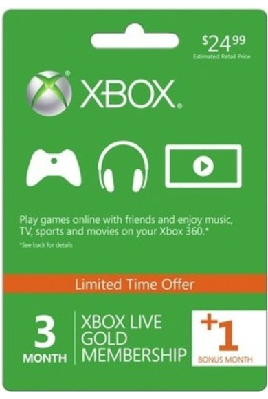 Xbox Live Gold 4 Mesi