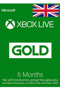 Xbox Live Gold 6 Months (UK - United Kingdom)