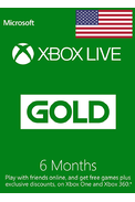 Xbox Live Gold 6 Months (USA)