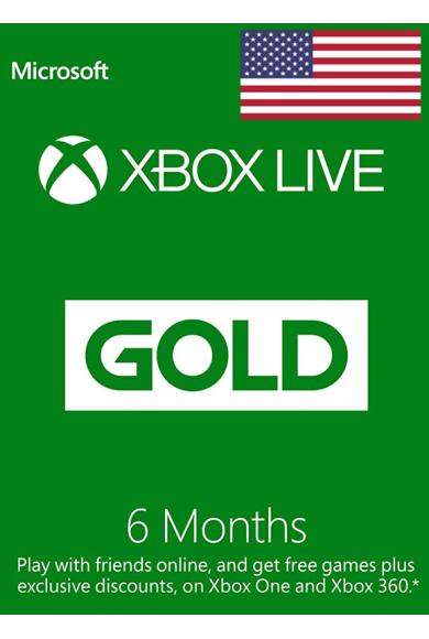 Xbox Live Gold 6 Months (USA)