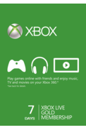Xbox Live Gold 7 Days Trial