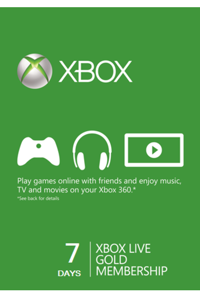 Xbox Live Gold Prova di 7 Giorni Trial