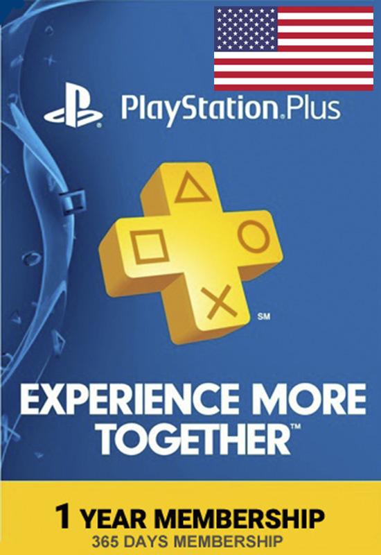 מנוי שנתי PlayStation Plus למשתמש אמריקאי
